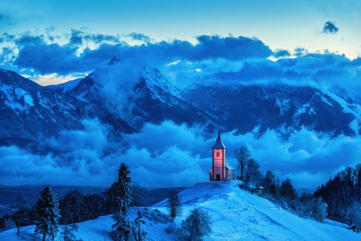 Photo free Jamnik Church, Slovenia, mountains