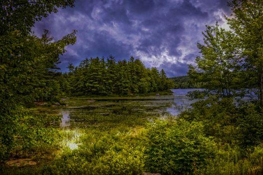 Фото бесплатно Sanborn lake, Brooks, Maine