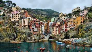 Бесплатные фото cinque terre,italy,sea,hills,building,house,hdr