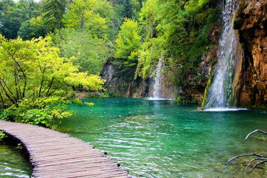 River in Croatia near the waterfall · free photo