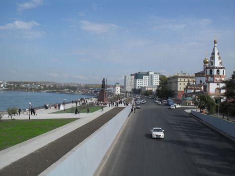 Photo free Irkutsk, city, embankment building