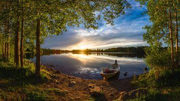 Река Оулуйоки и фины рыбаки · бесплатное фото