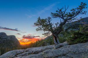 Photo free Rocky Mountain National Park, Colorado, sunset