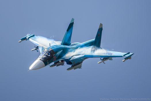 Бесплатные фото aircraft,military aircraft,sukhoi su-34,russian army,army