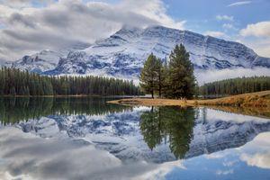 Фото бесплатно Национальный парк Банф, Two Jack Lake, Альберта