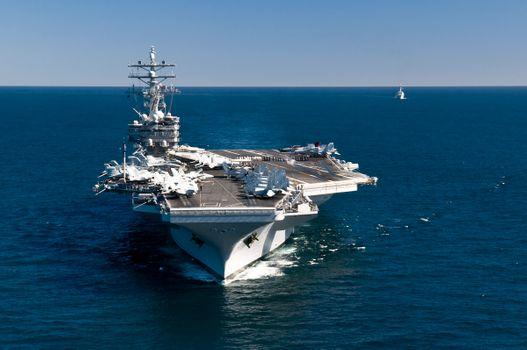 Фото бесплатно атомный, ударный, авианосец, nuclear-powered, aircraft, carrier, USS, Ronald Reagan