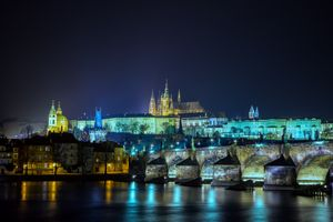 Ночной привет из Праги · бесплатное фото