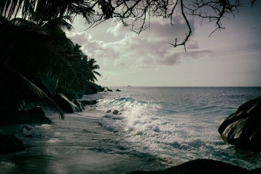 Заставки океан, сейшельские острова закат, море