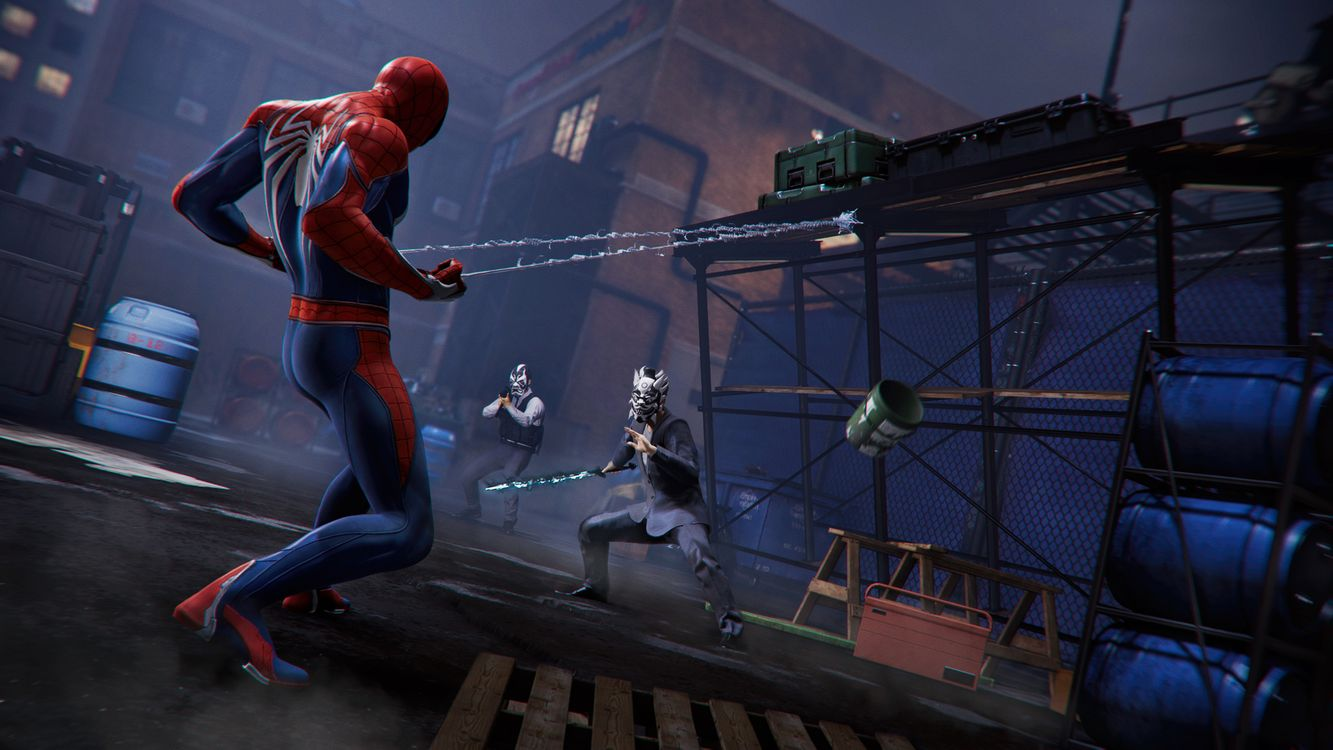 Spider-man and the bandits · free photo