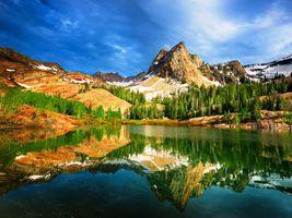 Бесплатные фото Юты,США,горы,озеро,отражение,деревья,природа