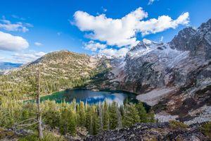 Бесплатные фото Alpine Lake,Stanley,Idaho,USA,горы,озеро,деревья