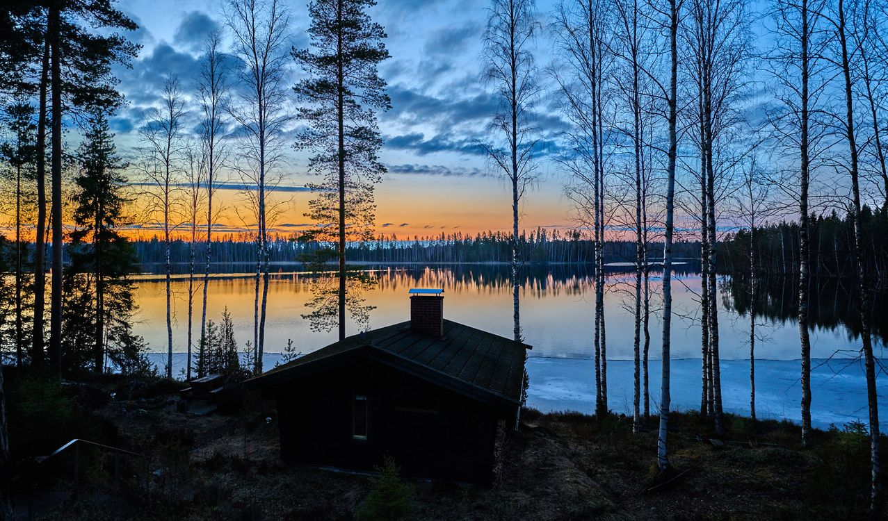 The house on the lake in Finland · free photo
