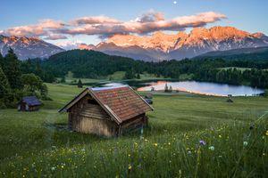 Фото бесплатно Бавария, озеро, озеро Geroldsee