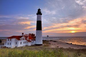 Бесплатные фото Big Sable Point,Lighthouse,Ludington State Park,Mason,Michigan,USA