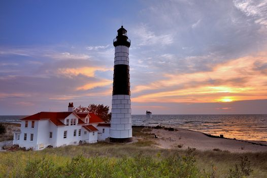 Фото бесплатно Big Sable Point, Lighthouse, Ludington State Park