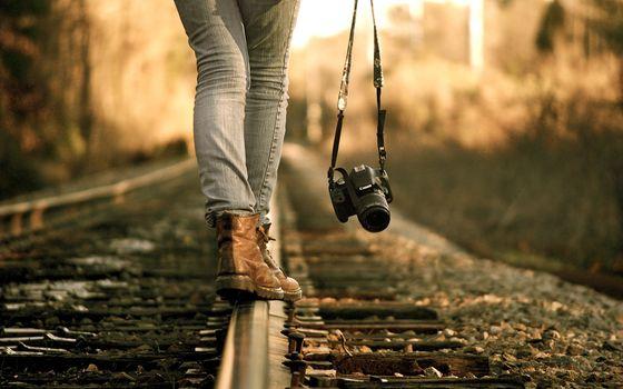 Фото бесплатно камеры, фотографы, железная дорога