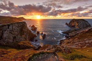Бесплатные фото Графство Донегал,Ирландия,закат,море,скалы,пейзаж