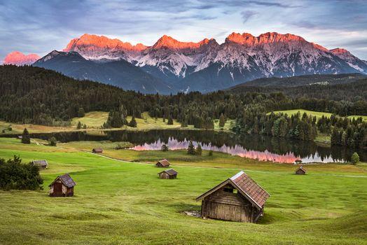 Фото бесплатно Бавария, страна, озеро Geroldsee