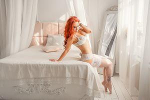 Фото бесплатно рыжая незнакомка, сексуальная девушка, beauty