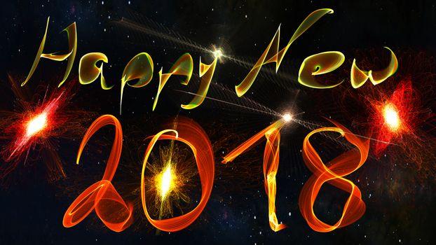 Надпись с новым годом 2018 · бесплатное фото