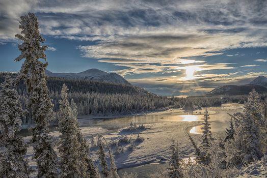 Заставки небо, Canada, зима