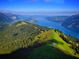 Бесплатные фото Альпы,Швейцария,Тунерзее,озеро,горы,холмы,лес