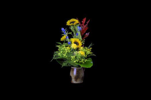 Photo free flora, vase, sunflowers