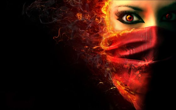 Заставки темный фон, демон, зло