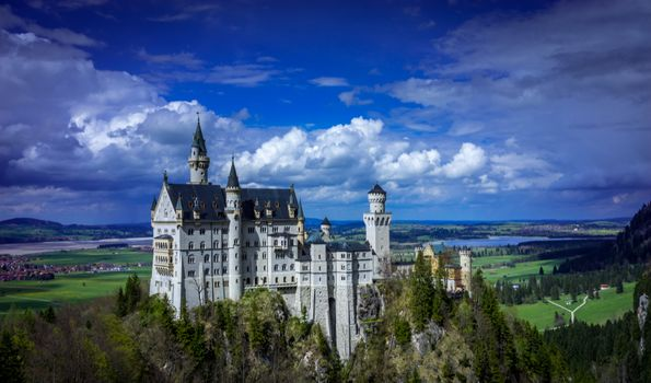 Photo free sky, clouds, castle Neuschwanstein