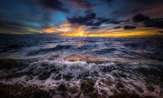 Заставки волны, небо, природа