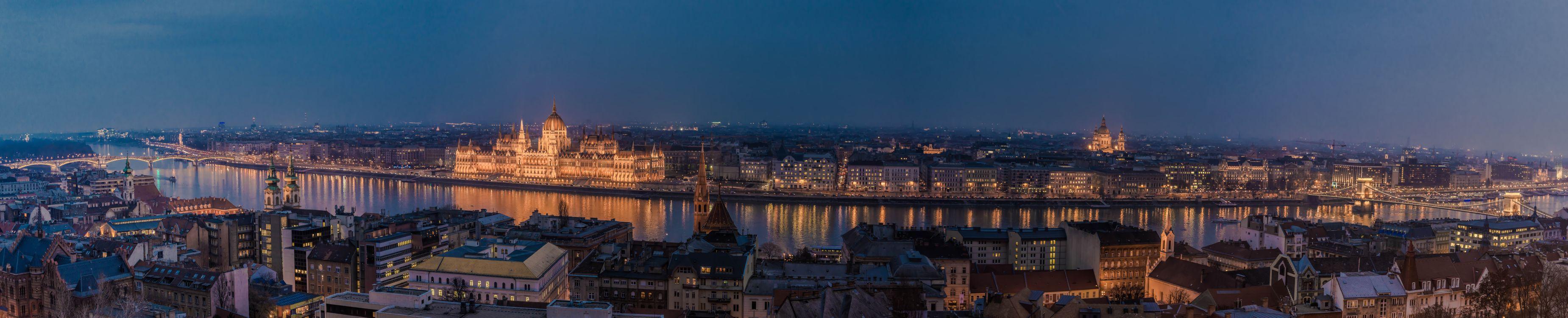 Фото бесплатно Budapest, Будапешт, Венгрия, панорама, город, ночь, ночные города, город