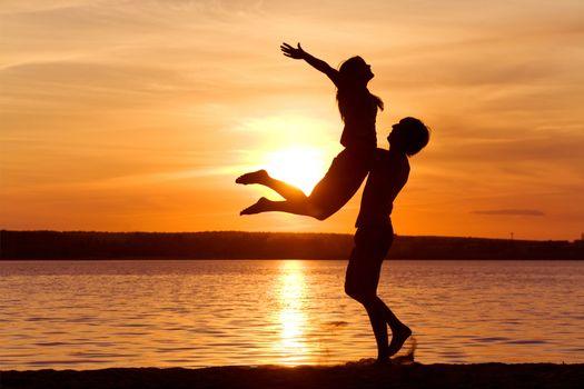 Photo free couple, feeling, freedom