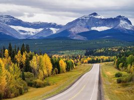 Photo free The canadian Rocky mountains, road, autumn