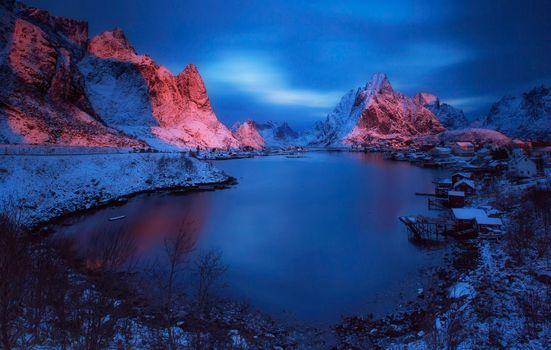 Beautiful photos on the theme of the lofoten islands, reine, reine