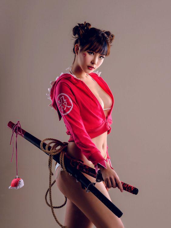 Девушка самурай - красавица · бесплатное фото