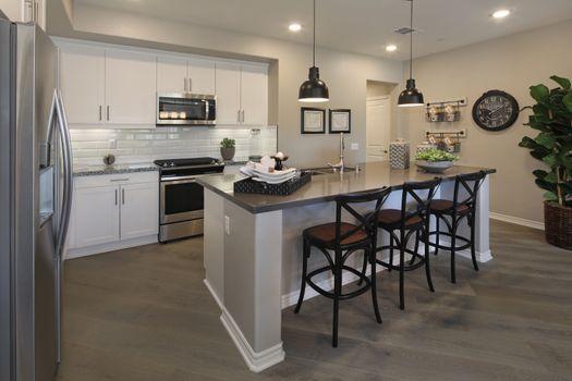 Фото бесплатно кухня, мебель, лампы