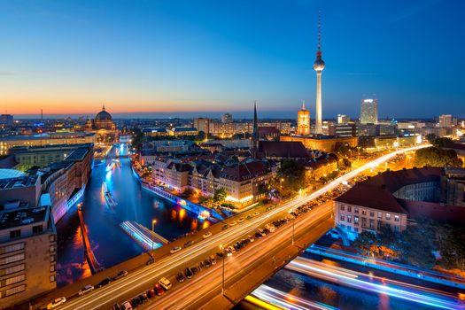 Photo free Berlin, Germany, dusk