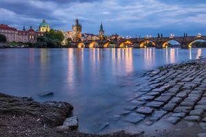 Фото бесплатно Чехия, освещение, Пражский Град