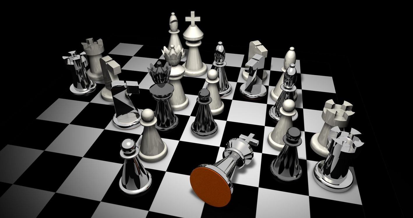 Фото бесплатно поставил мат, шахматы, цифры - на рабочий стол