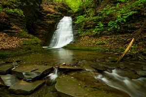 Заставки водопад, лес, скалы