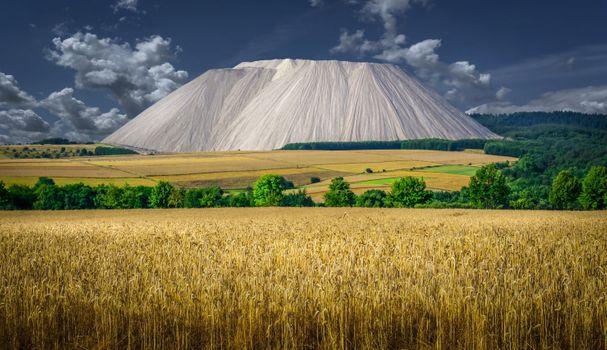 Фото бесплатно поле, горы, облака, Германия