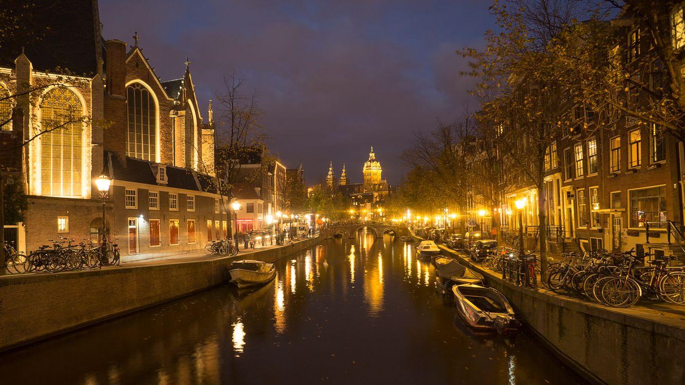 Река в Амстердаме · бесплатное фото