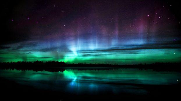 Photo free northern lights, freen, lights