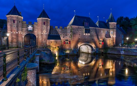 Photo free night, fortress, Amersfoort