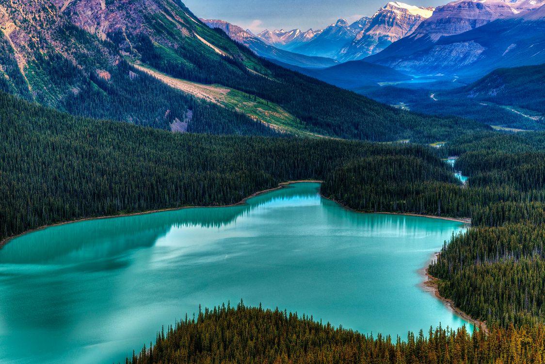 Фото бесплатно небо, горы, Banff National Park - на рабочий стол