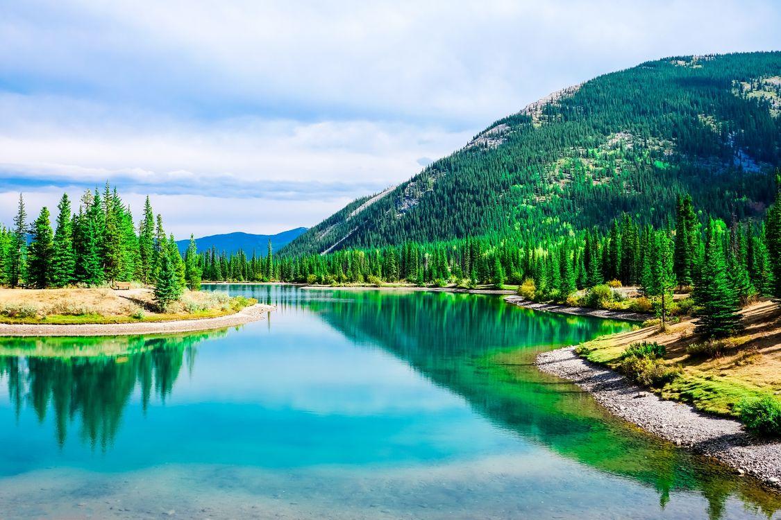 Фото бесплатно река, горы деревья, природа, пейзаж, пейзажи