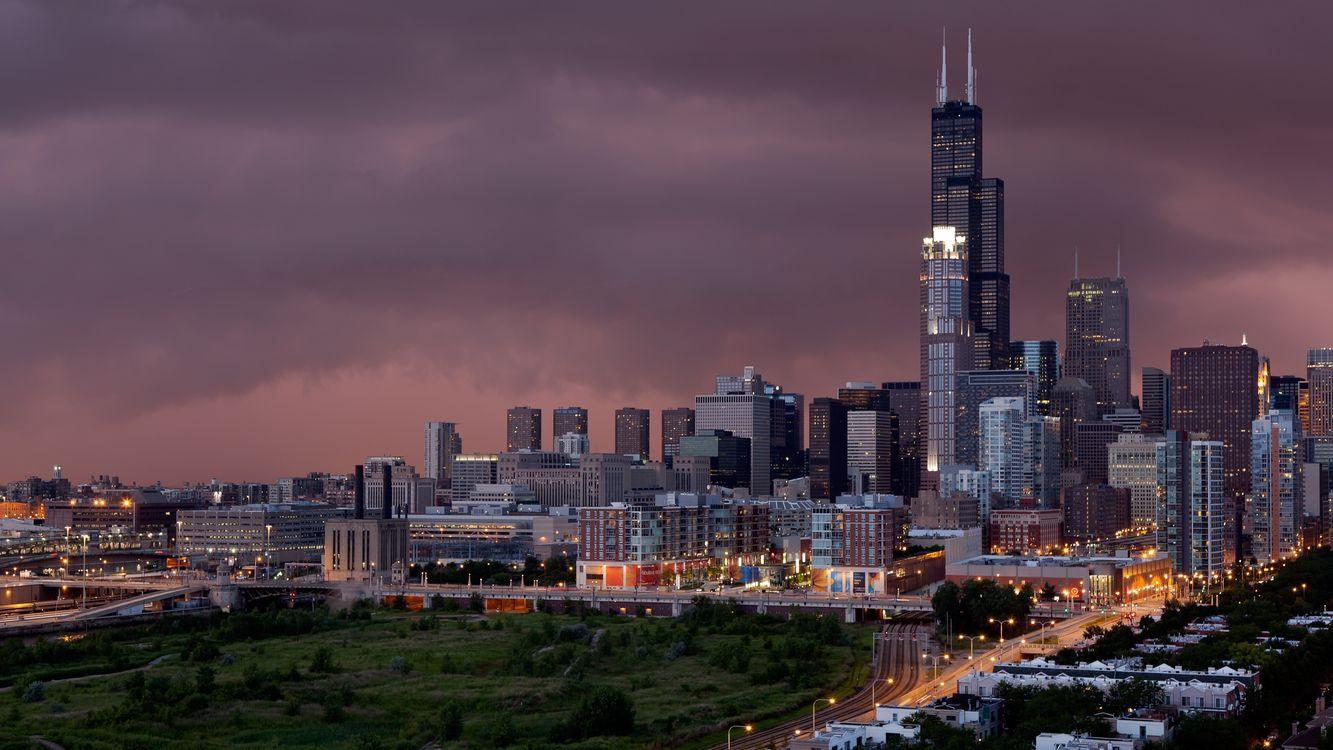 Фото бесплатно США, Chicago, горизонт - на рабочий стол