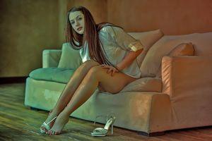 Фото бесплатно Изабелла, высокие каблуки, секси