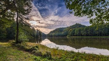 Бесплатные фото Самян,озеро,Тракошчан,Хорватия,утро,рассвет,закат