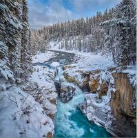 Фото бесплатно Swampta Falls, Jasper National Park, Alberta, Canada
